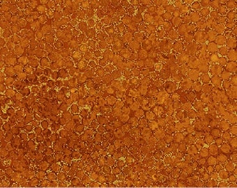 "108"" Wide quilt backing fabric by Northcott, PREMIUM, Rust orange METALLIC; B20257M-38"