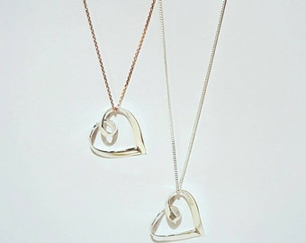 Mother's Day, Handmade sterling silver swirl necklace with STERLING SILVER chain