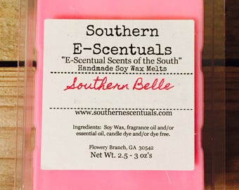 White Peach & Hibiscus, Peach Wax Melt, Wax Tarts, Southern Belle, Breakaway Wax Cubes, Wickless Candle, Scented Wax Melts, Gift for Her