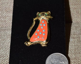 Vintage Orange Cat Pin
