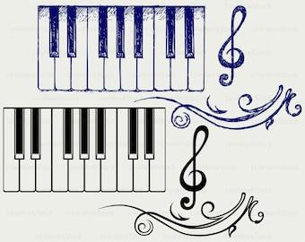 Piano keys svg,piano keys clipart,piano keys svg,piano keys silhouette,piano cricut cut files,clip art,digital download designs,svg,dxf