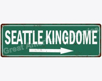 Seattle Kingdome Vintage Look Reproduction Metal Sign 6x18 6180586