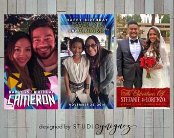 CUSTOM Snapchat Geofilter Design // Weddings // Birthdays // Parties // Special Events