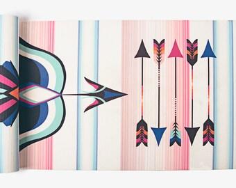 Freebird Yoga Mat-yoga-printed yoga mat- tribal yoga mat- arrows- tie dye- boho-feathers-yoga mat