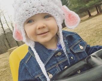 Lamb hat, easter hat, beanie