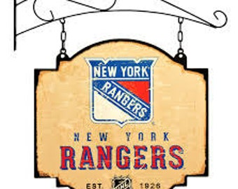 New York Rangers Tavern Sign With Bracket