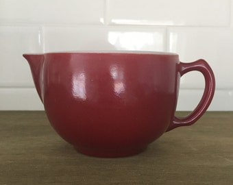 Platonite Hazel Atlas Creamer - Wine color