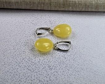Amber Earrings / Baltic Amber Earrings In Handmade Sterling Silver Earrings / Natural Baltic Amber Earrings Drop Earrings
