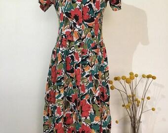 Vintage feminine floral dress