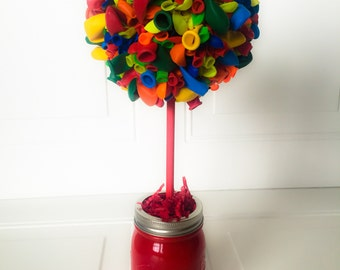 Birthday Centerpiece Balloon Topiary Centerpiece One (1) Birthday Party Decoration Balloon Centerpiece Balloon Topiary Birthday Party Decor