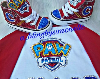 Custom Paw Patrol sneakers and Jersey tshirt
