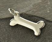 Dog Bone 925 Sterling Silver Animal Lover Charm Pendant Necklace Jewellery UK Seller Vet Groomer Gift 801