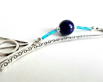 Harry potter Ravenclaw Bookmark, Deathly Hallows bookmark.