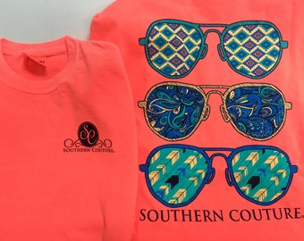 Southern Couture Sun glasses tee NEW