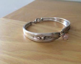 Silver tulip spoon bracelet silver plated