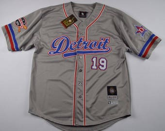 Vintage Deadstock Negro Leagues Detroit Stars Baseball Jersey Mens Large, Vintage Negro League Baseball Jersey, Vintage Baseball Jersey Gray
