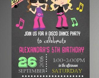 dance party invite  etsy, invitation samples
