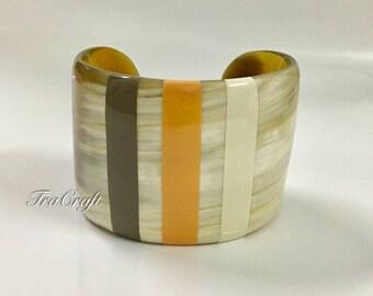 Horn & Lacquer Cuff Bracelet - V64