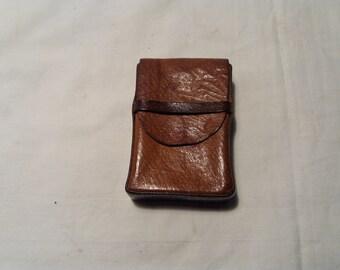 Vintage Handmade Brown Leather Cigarette Case