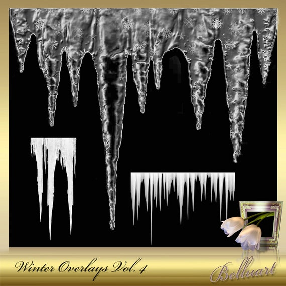 3 winter overlays vol 4 realistic icicle overlays