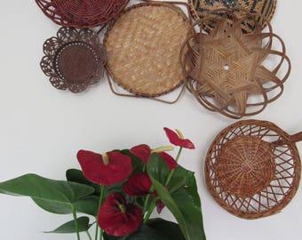 Wall basket Collection, Basketwall, wall baskets, vintage baskets, vintage basket collection