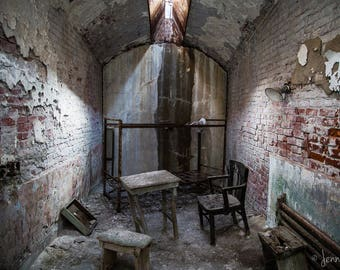 Eastern State Penitentiary - Fixer Upper - Photography - Fine Art - 12x8 Print matted to 14x11 - historic ruins Philadelphia