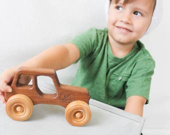 Wooden toy Jeep | personalized toy car