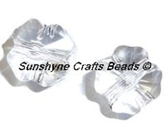 Swarovski Crystal Beads 4 Pcs 5752 CRYSTAL Clover Faceted Bead 8MM