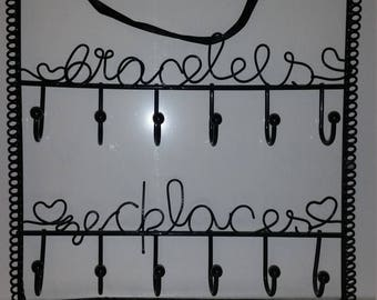 Decorative Jewelry Display Hangers / Jewelry Hanger / Metal Jewelry Rack/Earring Holder/Necklace Holder/Bracelet Holder/Black Metal Rack/CIJ