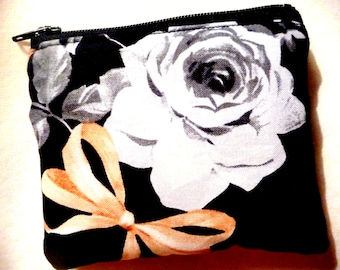 New! coin purse with flower