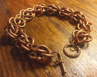 Copper Chainmail Bracelet
