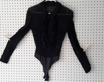 Bebe Black Lace Bodysuit