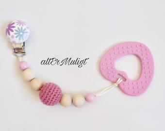Pacifier chain/Stroller toy/ Car seat toy with textured teether