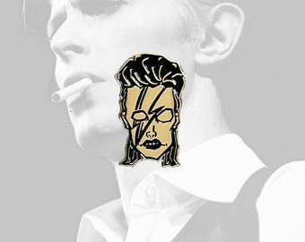 David Bowie Man Who Sold The World Lapel Pin By VOIDEaD