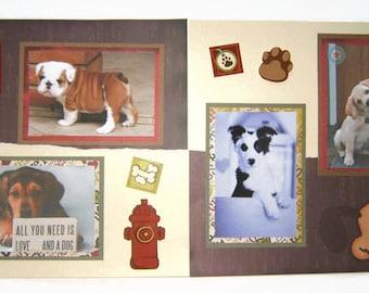 Pet Scrapbook Pages - Dog Scrapbook Pages - Puppy Scrapbook Pages - Premade Dog Pages - Premade Puppy Pages - Dog Scrapbooking - Puppy Pages
