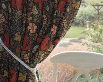 William Morris Curtains Compton Made to Order in Terracotta