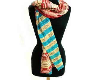 Kantha Cotton Scarf (14628)