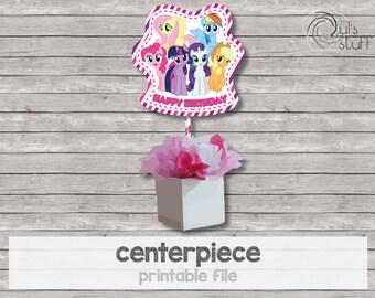 Printable My Little Pony centerpiece