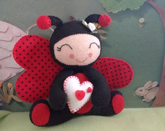 Ladybug Valentines Day