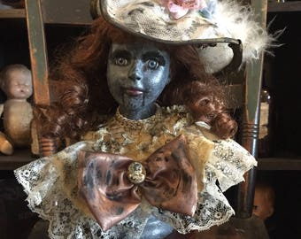 Jennifer - Scary, Creepy, Doll, Hand Painted - Zombie, Oddities, Macabre, Horror, Musical, Halloween