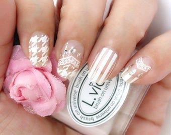White Lace Nail Wraps