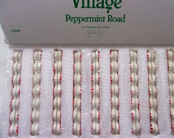 Dept. 56 Peppermint Road, Box of 18, Mint, Christmas Village Road, North Pole