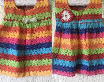 Coloful Mexican Dress for baby girl