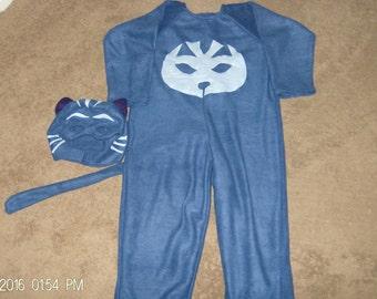 Cat Boys Halloween Costume Dress Up PJ Body Mask Catboy Pretend Play Custom Made