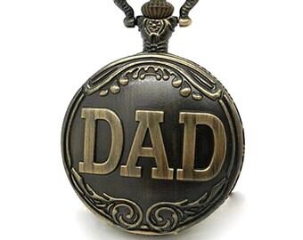 Men's pocket watch, DAD, Dad gift