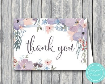 Wedding Thank you cards, Foldable Thank you notes, Wedding Favor Cards, Shower Favors, Bridal Shower Thank you cards, Favors TH71 WI52