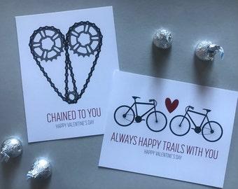 Eight Printable Bike Valentines