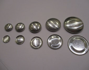 Flat Backed Self Cover Buttons - Sizes 12/15/19/23/28/38/45mm