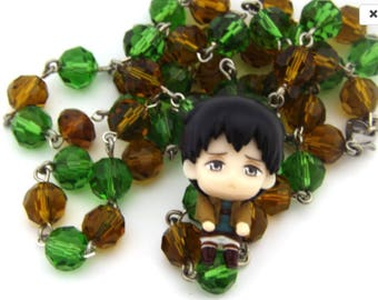 AOT Anime Bertholdt Hoover Crystal Kawaii style necklace anime cosplay jewelry