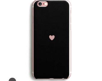 Heart black iphone 6s case, iphone 7 case, iphone 6 plus case protective, iphone se case, iphone 6s plus case, iphone 6s case, iphone 5s